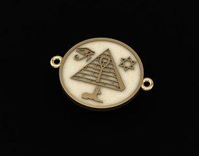 3D printable model tetragrammaton pendant or ankle