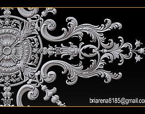 3D printable model Decorative ornament CNC wooden cutting