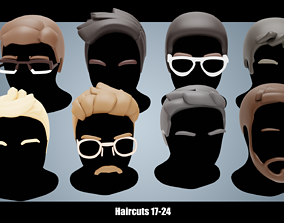 Base Haircuts 17-24 3D asset
