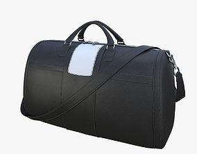 Black leather bag 3D model
