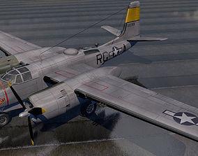 3D model wwii Douglas A-26B Invader
