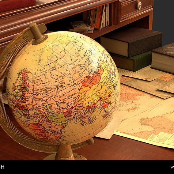 Soviet era globe