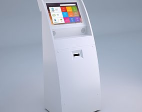 3D model Touch Screen Pay Terminal Screen Display Console
