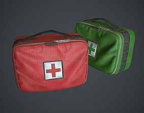 3D model low-poly Medkits Bags Fabric