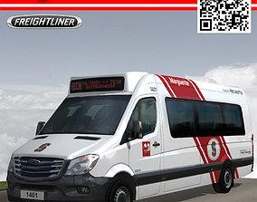 Marguerite freightliner free public shuttle 3D asset