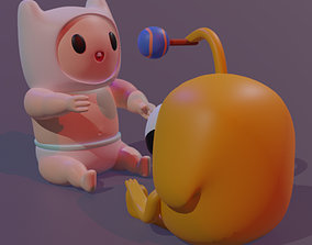 3D printable model Baby Finn And Jake From Adventure Time
