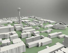 3D model Space Needle Seattle observation