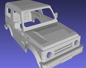 Suzuki Samurai SJ-410 Printable Body Car
