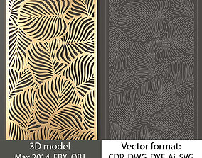 Decorative panel 118 3d model and vector format new