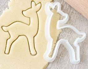 3D printable model Fawn 3 cookie cutter for professional