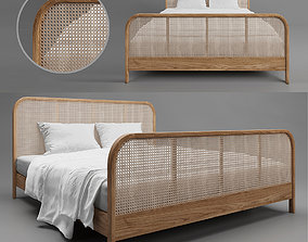 Rattan Bed Indochine 3D model
