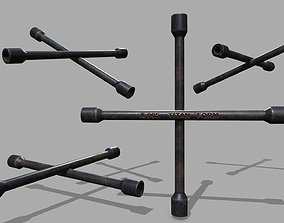 3D model game-ready Lug Wrench