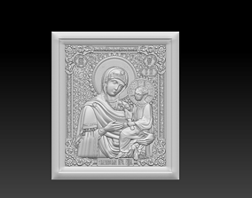 3D print model Icon of the Mother of God Tikhvin necklaces