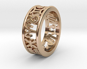 61size Constellation symbol ring 3D print model