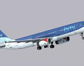 Airbus A321-200 BMI British Midland 3D asset
