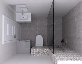 bathroom design sink 3D