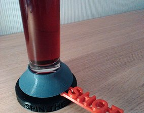 3D printable model spin the shot exciting drinking game