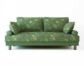 Low poly fabric armchair sofa 3D asset