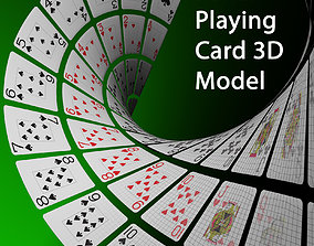 Poker Playing card 3D Model low-poly