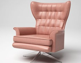 3D model Pink Leather Armchair