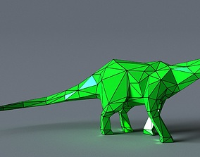 low-poly 3D printer model barosaur Low-poly 3D model