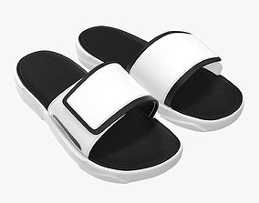 Men slides footwear sandals 01 3D model