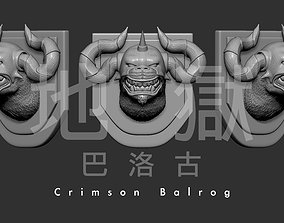Crimson Balrog 3D Modle Game Monster