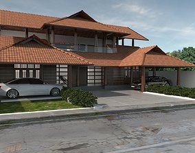 roof 3D Traditional house