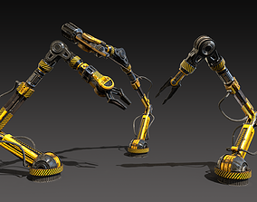 Sci-fi Mechanical Arms 3D asset game-ready