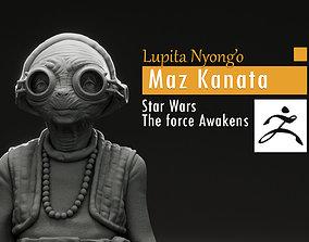 3D printable model Lupita Nyongo - Maz Kanata - Star 3