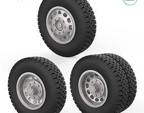 3D print model Truck wheels 1-32 tire