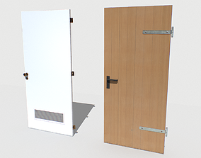 3D asset Basement Doors Pack 1