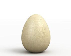 Egg 3D Model brown