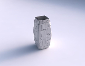 Vase rectangle with organic cells 3D print model