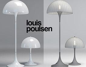Louis Poulsen Panthella lamps 3D