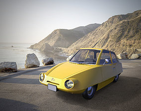 Old Mini Car Design 3D