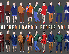 Colored Lowpoly People 3D model VR / AR ready