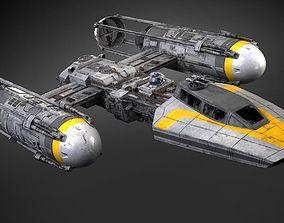 Star Wars Y-wing 3D model