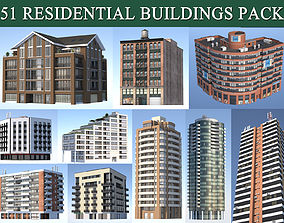 Residential Buildings Pack 3D model