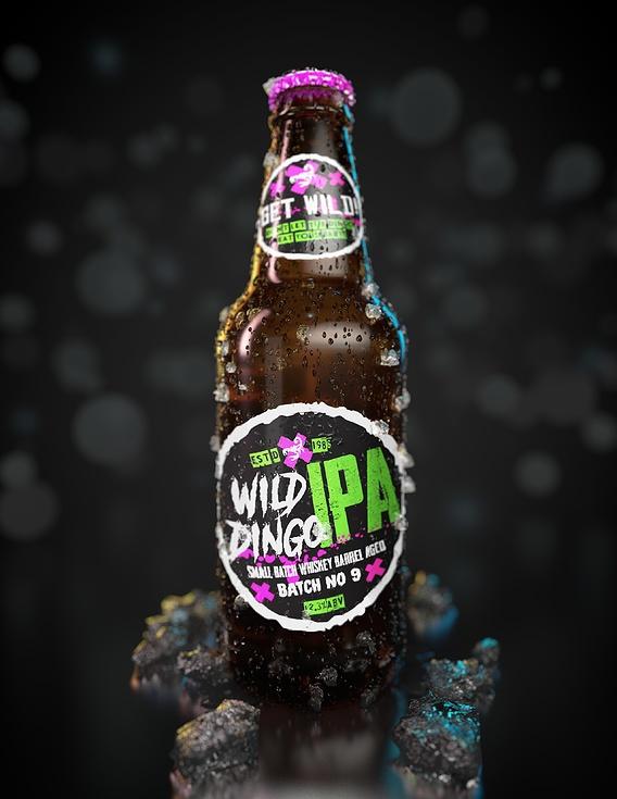 Fictional Beer Brand Bottles