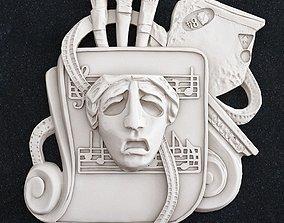 artist painter logo 3D print model