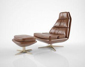 3D model Hamilton Conte Blas armchair