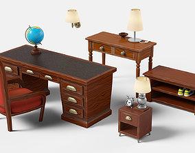 3D model Stylized furniture set