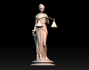 Themis Lady of Justice 3D print model