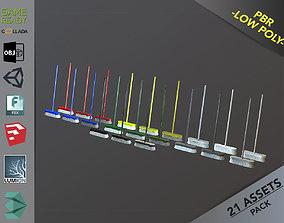 Broom Brush Pack 1 3D model
