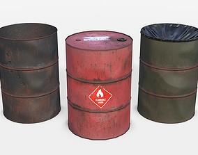 3D model Barrels Asset 01