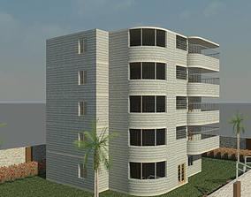 Resident Building 3D model 150m2