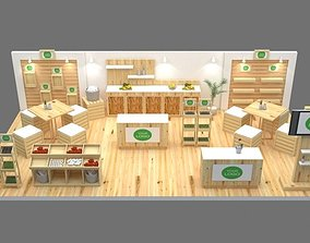 Farm to table booth exhibition architectural 3D
