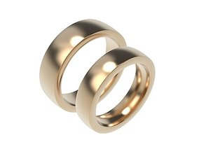 Classic Gold Silver Platinum Ring 3D printable model