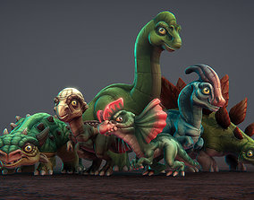 3D asset Toon Dinosaurs 2
